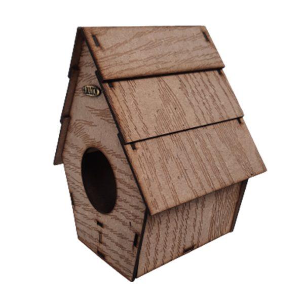 لانه چوبی شیبدار 3تایی کوچک