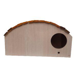 کلبه چوبی سقف حلالی دورنگ
